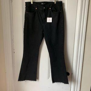 🌛Zara🌛cropped flare black jeans